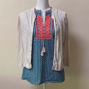 J. CREW Embroidered Sleeveless Summer Blouse